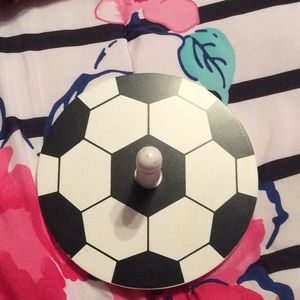 Other - Soccer hanger on your wall to hang hats or bags on